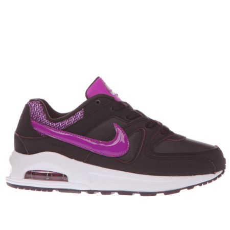girls dark purple nike air max command flex junior trainers. Black Bedroom Furniture Sets. Home Design Ideas