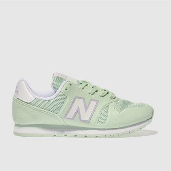 New Balance Light Green 373 Girls Junior