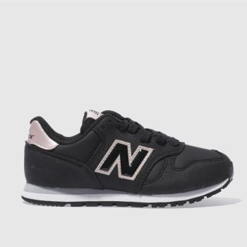 New Balance Black & pink 373 Girls Junior