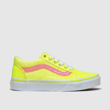 Vans Yellow Old Skool Girls Junior