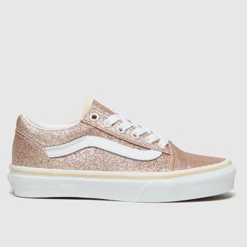 Vans Gold Old Skool Glitter Girls Junior#