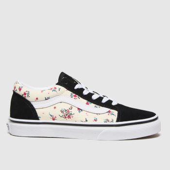 Vans Black & White Old Skool Girls Junior#