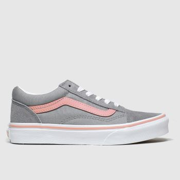 Vans grey old skool trainers junior