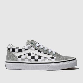 Vans Silver & Black Old Skool Glitter Girls Junior