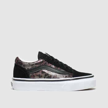 Vans Black & Brown Old Skool Girls Junior