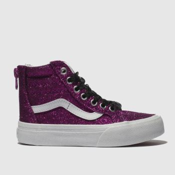 Vans Pink Sk8-Hi Zip Girls Junior