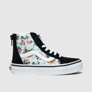 Vans Black & Pale Blue Sk8-Hi Zip Girls Junior