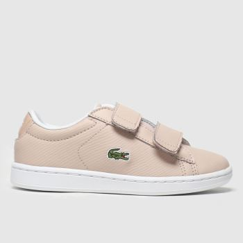 Lacoste Pale Pink Carnaby Evo Strap Girls Junior