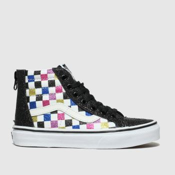 Vans Black & Pink Sk8-hi Zip Glitter Girls Junior