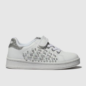 lelli kelly white & silver cecilia trainers junior