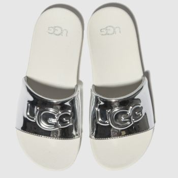 Ugg Silver Graphic Slide Girls Junior