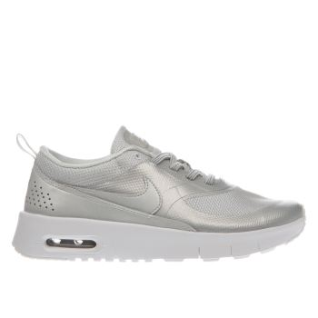 NIKE SILVER AIR MAX THEA SE GIRLS JUNIOR TRAINERS
