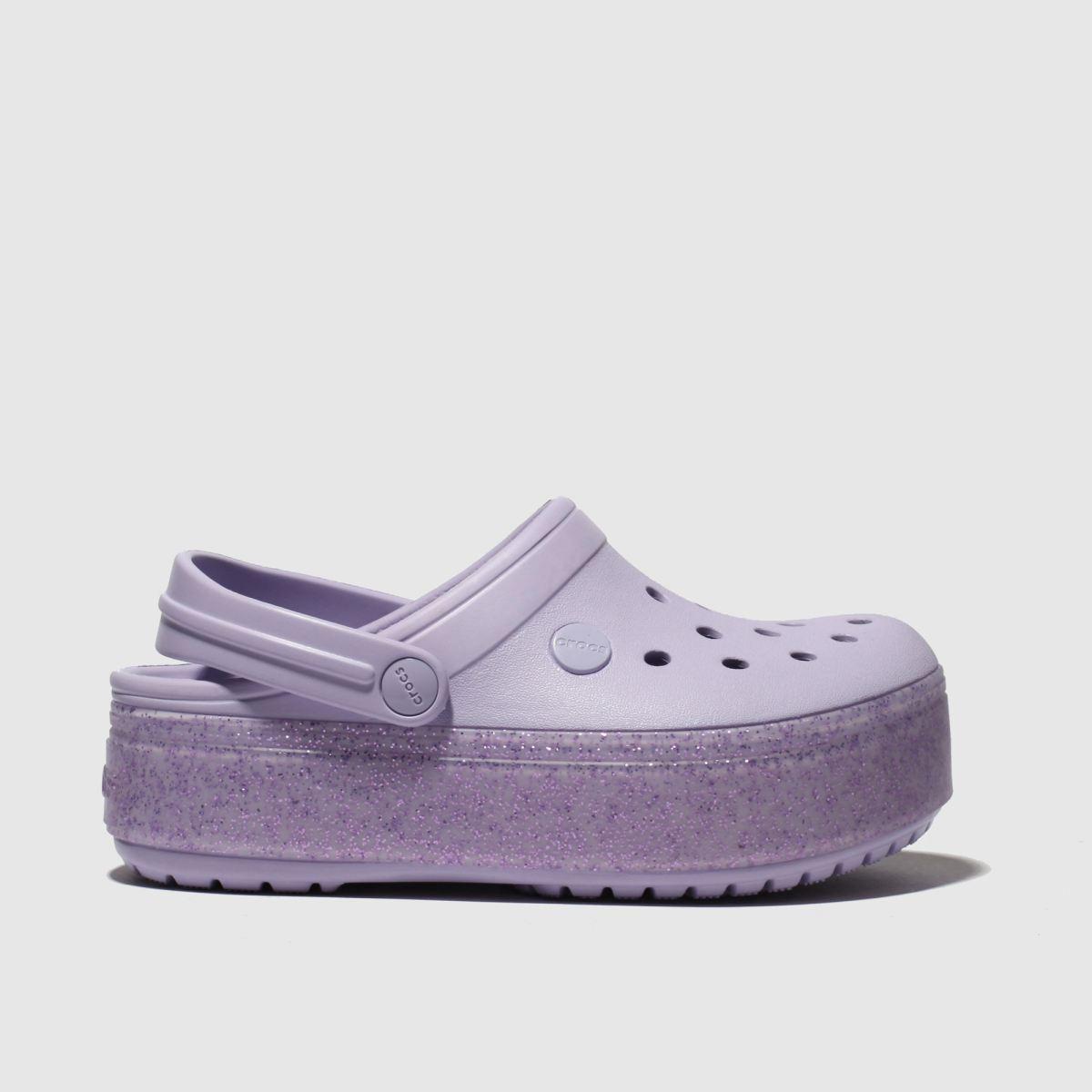 Crocs Lilac Crocband Platform Sandals Junior