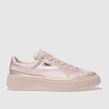 Puma Pale Pink BASKET PLATFORM TWEEN Girls Junior