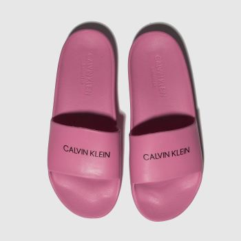 Calvin Klein Pink Slides Girls Junior