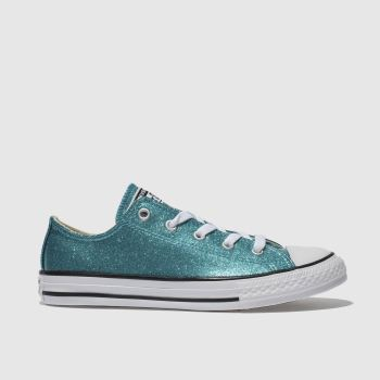 Converse Turquoise ALL STAR OX GLITTER Girls Junior