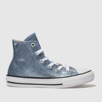 Converse Blue ALL STAR HI GLITTER Girls Junior