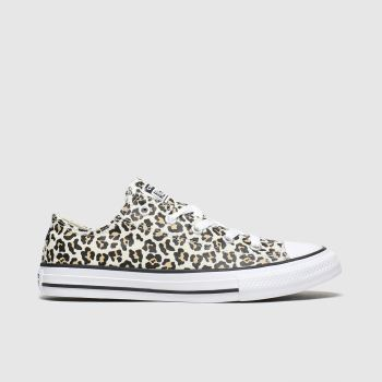 Converse Black & Brown All Star Lo Leopard Girls Junior