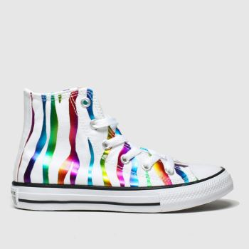 Converse Multi All Star Zebra Hi Girls Junior