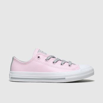 Converse Pink All Star Sparkle Lace Lo Girls Junior