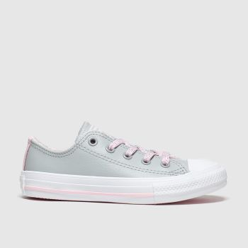 Converse Light Grey All Star Sparkle Lace Lo Girls Junior