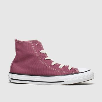 Converse Burgundy All Star Hi Renew Girls Junior