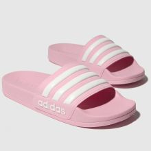 adidas pink adilette shower sandals junior