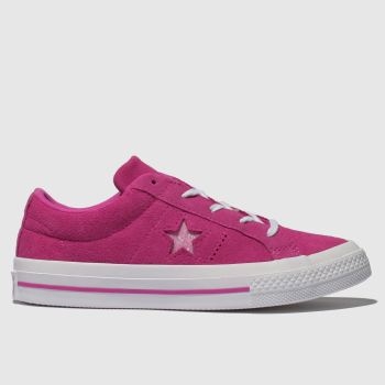 Converse Pink One Star Lo Girls Junior