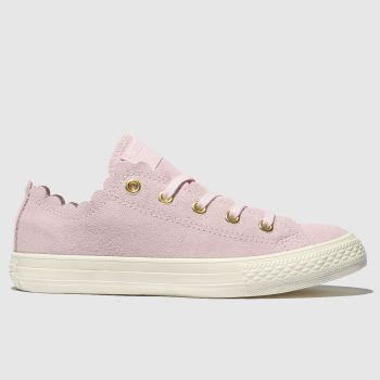 Converse Pink All Star Lo Frilly Thrills Girls Junior