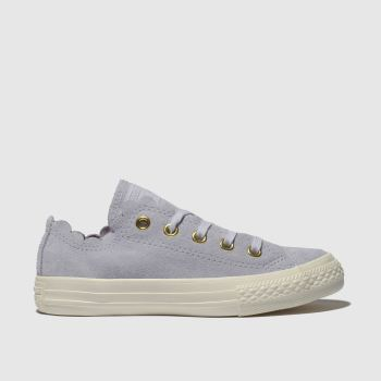CONVERSE LILAC ALL STAR LO FRILLY THRILLS TRAINERS JUNIOR