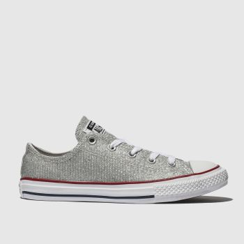 Converse Silver CHUCK TAYLOR ALL STAR LO Girls Junior
