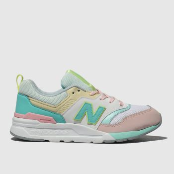 New Balance White & Pink 997H Girls Junior