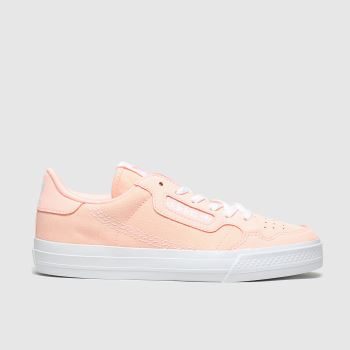 adidas peach continental vulc trainers junior