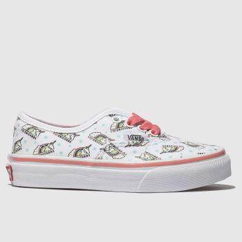 Vans White & Pink Authentic Unicorn Girls Junior