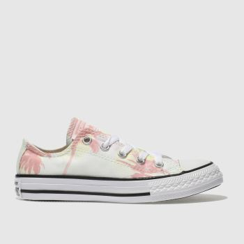 CONVERSE LIGHT GREEN CHUCK TAYLOR ALL STAR LO TRAINERS JUNIOR