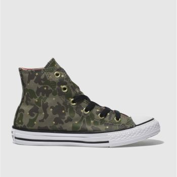 Converse Khaki Chuck Taylor All Star Hi Girls Junior