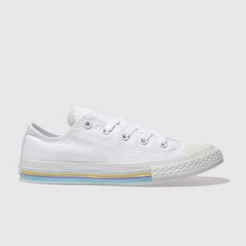 Converse White ALL STAR LO STRIPE Girls Junior