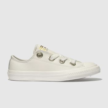 Converse White All Star Big Eyelets Lo Girls Junior
