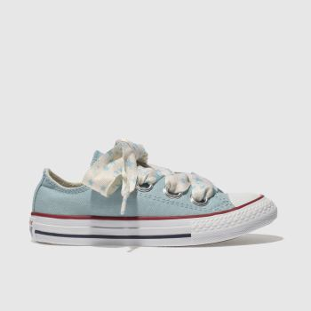 Converse Blue All Star Big Eyelets Lo Girls Junior