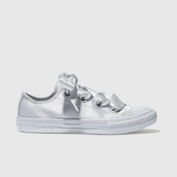 Converse Grey All Star Big Eyelets Lo Girls Junior