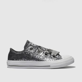 Converse Silver All Star Big Eyelets Lo Girls Junior