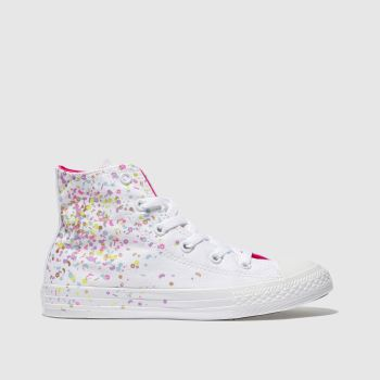 Converse White All Star Hi Girls Junior
