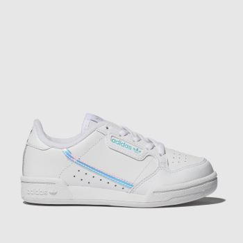 Adidas White & Silver Continental 80 Girls Junior