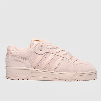 adidas pale pink rivalry low trainers junior