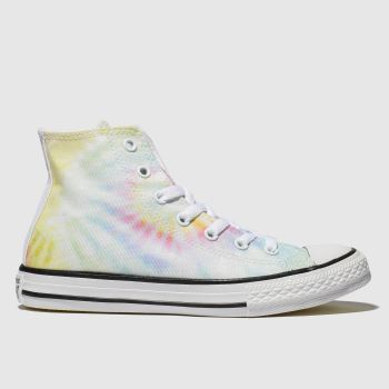 Converse Blue & Yellow All Star Hi Tie Dye Girls Junior
