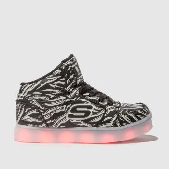 Skechers Black Energy Lights Girls Junior