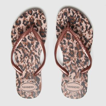 havaianas Bronze Slim Animal Girls Junior