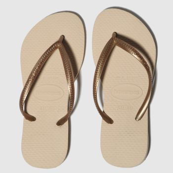 havaianas pale pink slim sandals junior