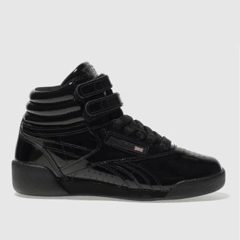 Reebok Black Freestyle Hi Patent Girls Junior