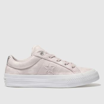 4046990e2c03 Girls pale pink converse one star ox trainers